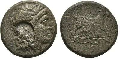 Ancient Greece 2 Cent BC AEOLIS AIGAI APOLLO/Cmk GOAT