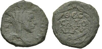 Ancient Rome AD 198-216 Macedon Thessalonica AE Caracalla Tyche Legend