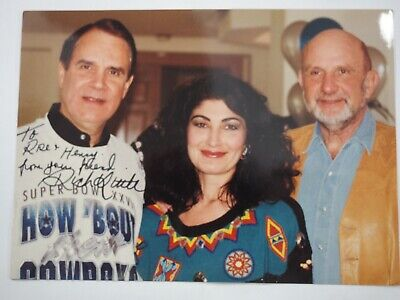 """Rich Little Hand Signed Autograph to Debbie Reynolds Casino Manager 5""""x 7"""""""