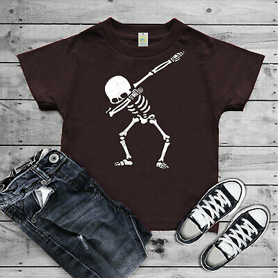 7416e322c7a2 Kids Boys Girls DABBING SKELETON T-Shirt dab children's top Black Top All  Sizes