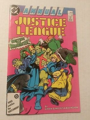 Justice League America #1 Annual 1987 DC Comics Dematteis Giffen Willingham