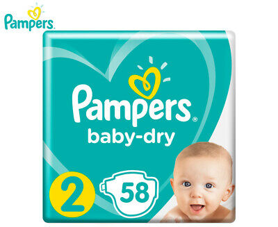 Pampers Baby-Dry Infant Size 2 4-8kg Nappies 58-Pack