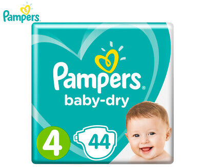 Pampers Baby-Dry Toddler Size 4 9-14kg Nappies 44-Pack