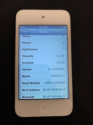 Apple iPod touch 4th Generation White (8 GB) Works Great