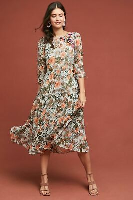 3d2bf515bdf7 NWT Anthropologie Espalier Embroidered Tunic Dress by Meadow Rue $188