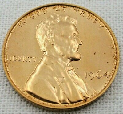 1964 Proof Lincoln Memorial Cent/Penny (1058)
