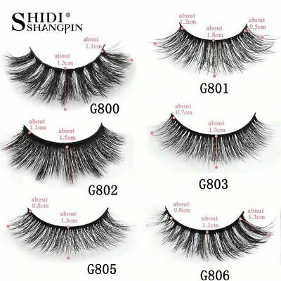 5 Pairs 100% Real Mink 3D Volume Thick Daily False Eyelashes Strip Lashes New