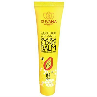 Suvana Paw Paw & Honey Organic Lip Balm 25g
