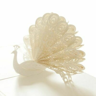 3D Peacock Pop up Birthday Card for Wife Husband Kids Valentine Day Card Han 5I2