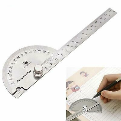Pro Stainless Steel 180 degree Protractor Angle Finder Arm Measuring Ruler Tools