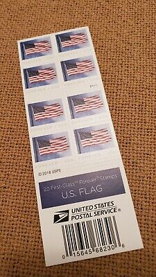 $10.25 for 20 US Flag Forever Stamps SHIPS FREE!!
