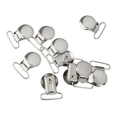 10pcs Metal Suspender Clips Holder Clip Duckbill Buckle Holder Cloth Accessories