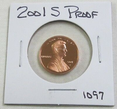 2001 S Proof Lincoln Memorial Cent/Penny (1097)