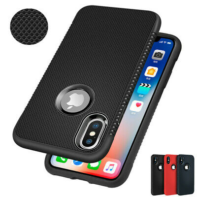 For iPhone XS Max XR 8 7 6s Plus Ultra Thin Breathable Mesh Hole Soft Case Cover