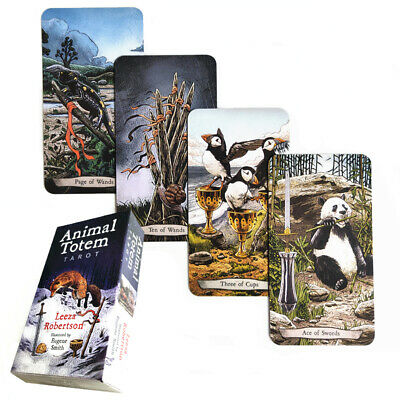 Animal Tarot Cards Board Game Deck 78 Cards English Edition Family Friends Toy