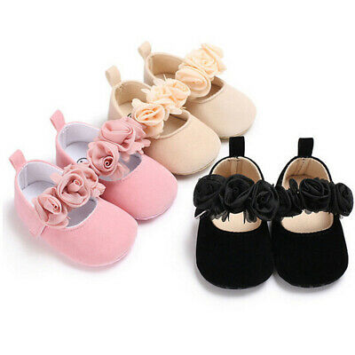 Newborn Baby Toddler Girl Crib Shoes Pram Prewalker Anti-slip Sneakers Soft Sole