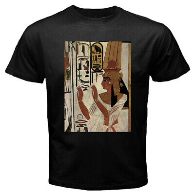 New Nefertari Ancient Egyptian Queen Men's Black Tee T-shirt Size S-3XL