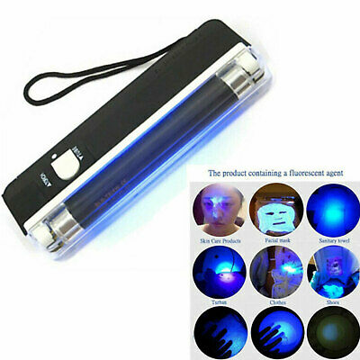 Portable UV Bank Note Checker with Torch ultraviolet tube light battery power AU
