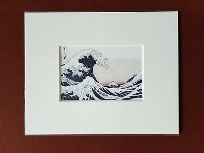 Ukiyoe Japanese Prints Under the Wave off kanagawa from the series 36 of Mt Fuji