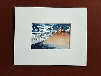 Ukiyoe  Japanese Print [ A middle Breeze of a Fine day, from the 36 of Mt.Fuji ]