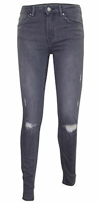 Womens Ripped Jeans Stretch Denim Zip Fly Cotton Ladies Trousers Pants Size 6-16