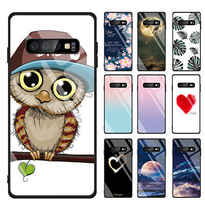 Stained Tempered Glass Hard Case Cover For Samsung Galaxy Note 10 Plus S10 A70