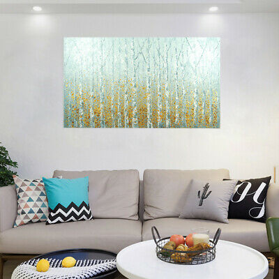 Hand Painted Abstract Canvas Art Oil Painting Wall Home Decor Framed - Birch