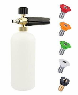 "1/4"" Quick Release Snow Foam Lance Foam Cannon Blaster Car Wash Pressure Washer"