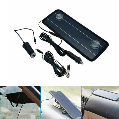 Car Boat Yacht Solar Panel Trickle Battery Charger Outdoor Power Supply 4.5W 12V