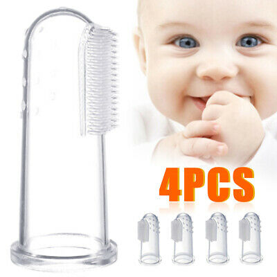 4pcs Soft Silicone Baby Infant Newborn Finger Toothbrush Teeth Gum Massager