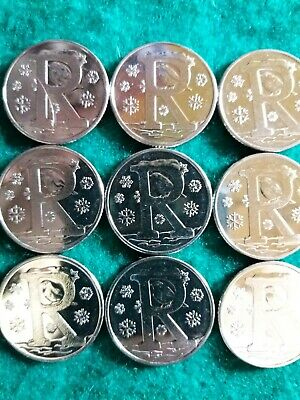 2019. LETTER 'R'. Robin. Alphabet Ten Pence. A to Z 10p. From a Sealed Bag.
