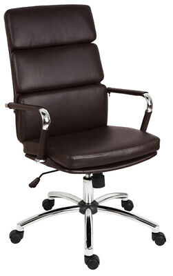DECO Brown Executive High Back Retro Eames Style Office Swivel Computer Chair