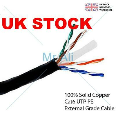 External CAT6 Outdoor Use COPPER Ethernet Network Cable Reel UTP Lot 50/100/305