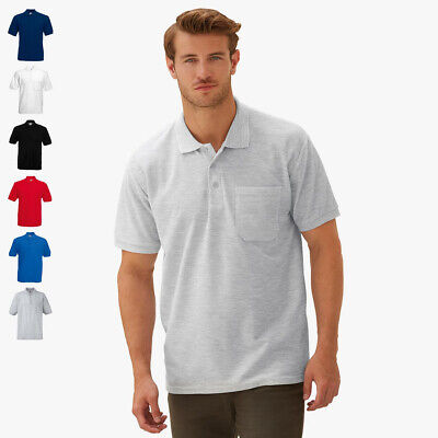 FRUIT OF THE LOOM - Poloshirt mit Brusttasche | S M L XL XXL 3Xl