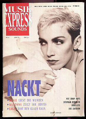 MUSIK EXPRESS  Sounds   6 / 1991  :  Annie Lennox    Madonna    Pet Shop Boys