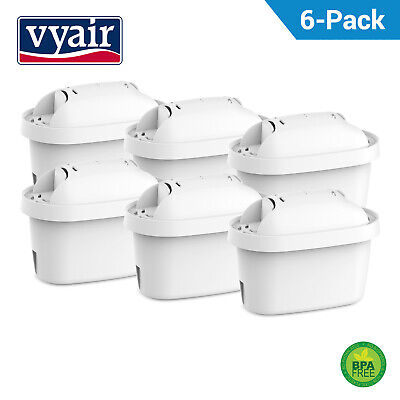 6 x Vyair Replacement Refill Water Filter Cartridges for Brita Maxtra+ & Mavea