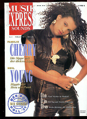 MUSIK EXPRESS  Sounds   2 /1990 :  Neneh Cherry   Neil Young
