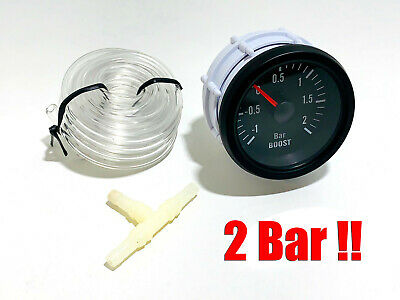 Ladedruckanzeige universal 52mm 2Bar Retro Look Boost Gauge 16V G60 VR6 Turbo RS