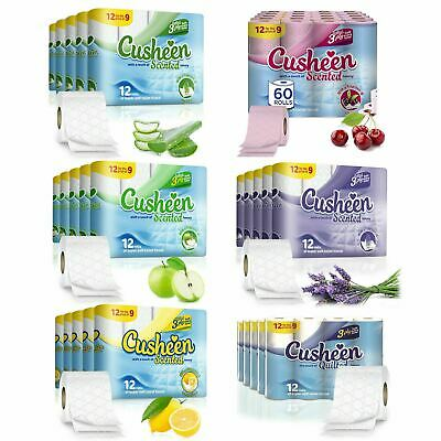 Cusheen Quilted Scented 3 Ply Toilet Paper - 60 / 120 / 180 Rolls
