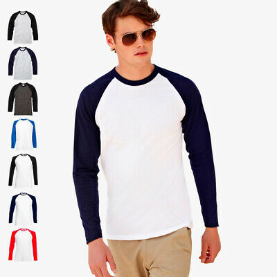 FRUIT OF THE LOOM - Kontrast Langarmshirt 'Longsleeve Baseball T' - S M L XL XXL
