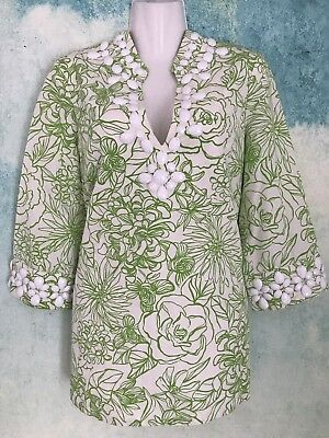 652accf0cfce2b LILLY PULITZER WHITE tag, tunic floral, excellent vintage condition ...