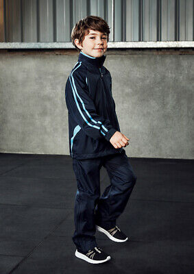 Biz Collection Kids Flash Track Sport Pant Pockets Drawstring Bottom Leg Zipper