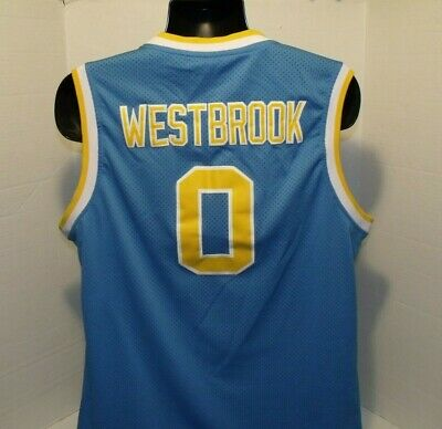 12018a110 Russell Westbrook #0 UCLA Bruins College Basketball Jersey BLUE Stitched SZ  XL