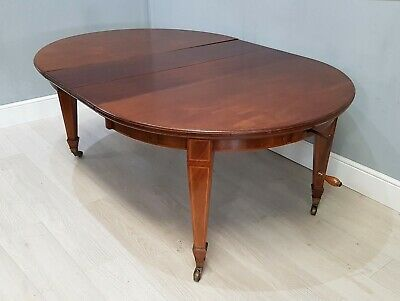 Antique Victorian Mahogany Wind Out Extending Dining Table 'JAS SHOOLBRED' (217)