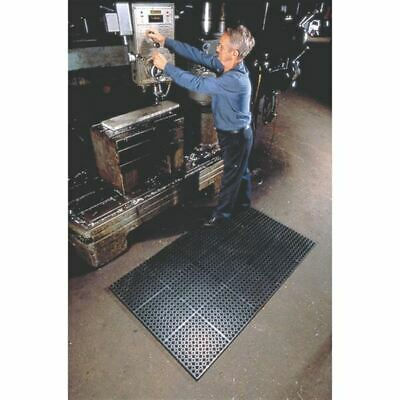 Wearwell Worksafe #477 Mat-Model#: 477. 78 X 2 X 3 GRBK Black,DIM.:2' x 3'