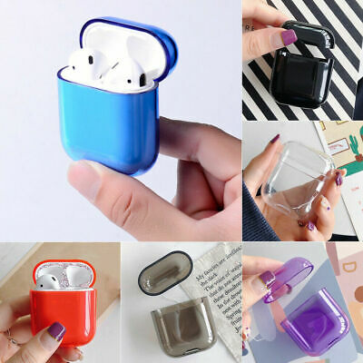 For Apple AirPods Transparent Case Cover AirPod Candy Color Hard PC Protector