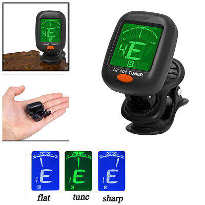 Electric LCD Digital Chromatic Clip Tuner For Bass Guitar Ukulele Chord Tool Acc