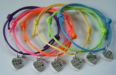 6 Hen Party Holiday Abroad Neon Bracelets Accessories Gifts Bride Tribe