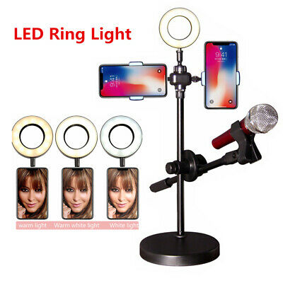 LED Ring Light Studio Photo Live Video Dimmable Lamp Tripod Stand Selfie Camera