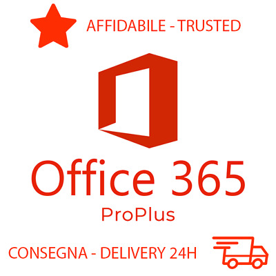 Office 365 2016 2019 Pro Plus Licenza License PC/MAC 5TB Consegna 24H 32/64Bit